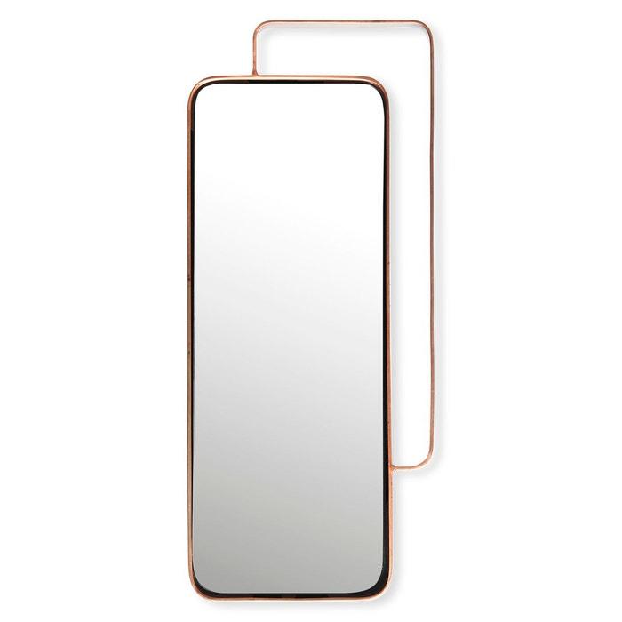 miroir rectangulaire en m tal couleur cuivre 51x24cm romy cuivre bruno evrard la redoute. Black Bedroom Furniture Sets. Home Design Ideas