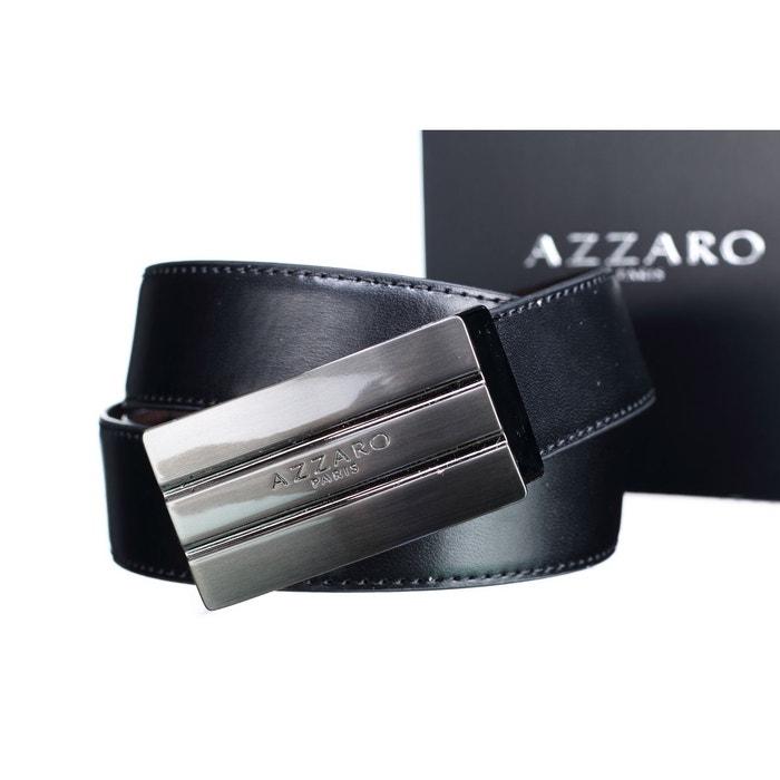Ceinture boucle plaque noir noir marron Azzaro   La Redoute 750b9fd7444