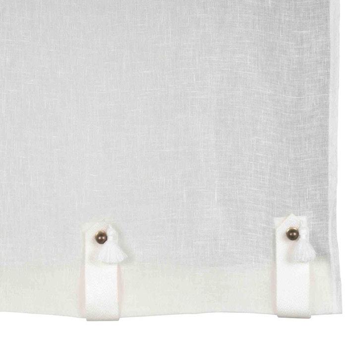 voilage de vitrages lin shadow gris clair madura la redoute. Black Bedroom Furniture Sets. Home Design Ideas