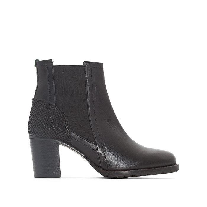 Boots cuir umane noir Kickers Vente Pas Cher Nice Acheter Pas Cher Payer Avec Visa O5Kh3jH