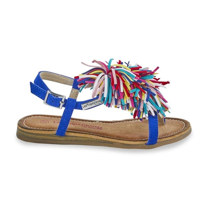Sandales entre-doigts gaya  bleu roi Les Tropeziennes Par M Belarbi  La Redoute