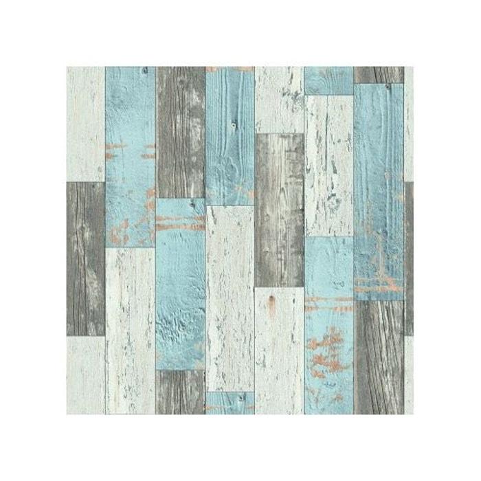 papier peint imitation parquet en bois home maison la redoute. Black Bedroom Furniture Sets. Home Design Ideas