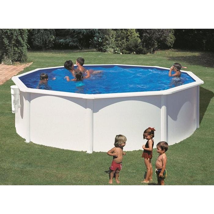 piscine acier blanc bora bora ronde 4 60 x 1 20 m gr. Black Bedroom Furniture Sets. Home Design Ideas