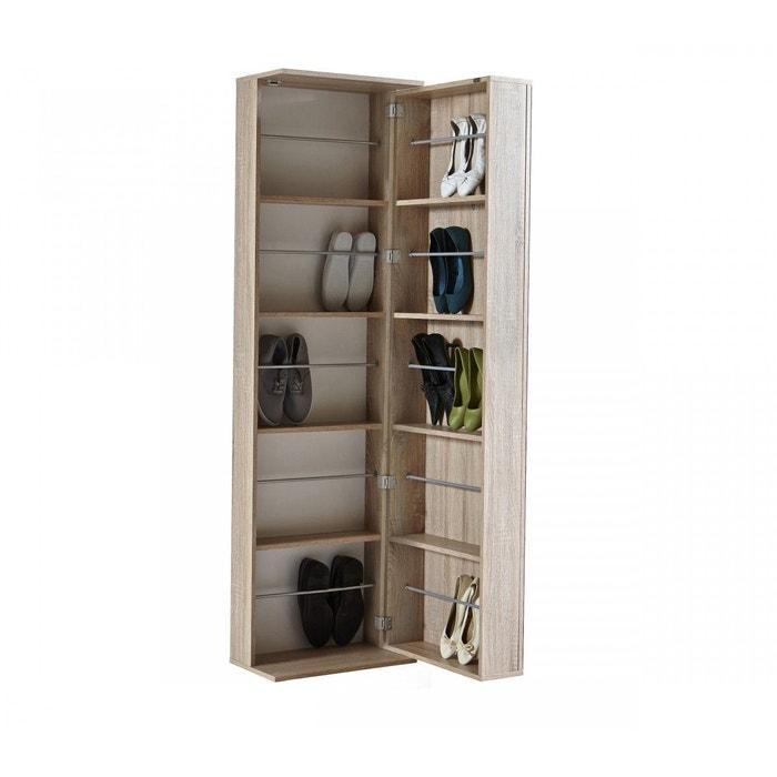rangement chaussure imitation ch ne 20 paires bois naturel. Black Bedroom Furniture Sets. Home Design Ideas