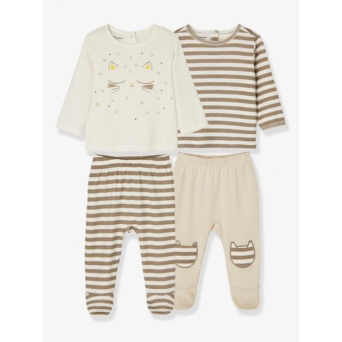 Lot de 2 pyjamas bébé 2 pièces coton  VERTBAUDET image 0