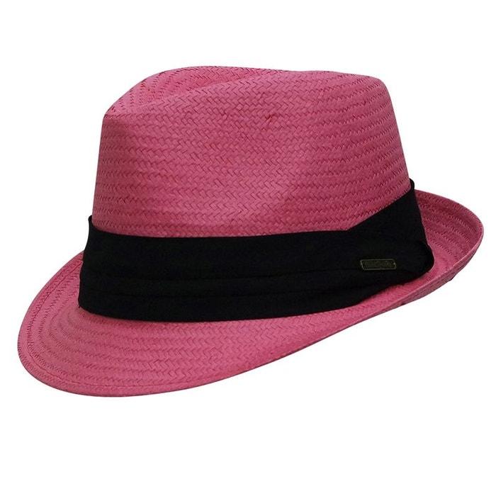 Trilby turquoise style panama ruban noir rose Chapeau La Sortie Pas Cher Recommande La Sortie AiCu6BHoL