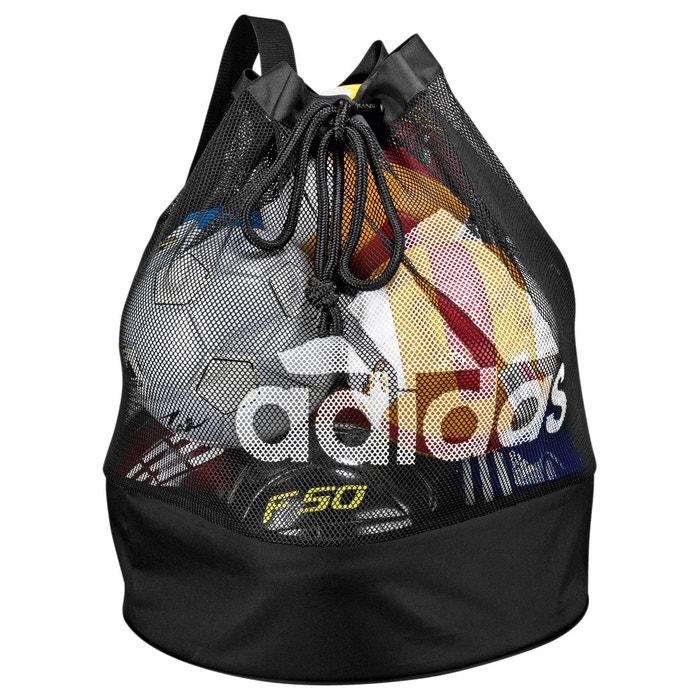 sac pour ballons de foot ballnet 12 e44309 noir adidas la redoute. Black Bedroom Furniture Sets. Home Design Ideas