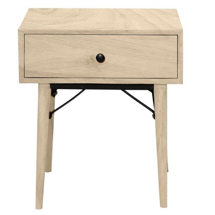 table de chevet karli bois clair rendez vous deco la redoute. Black Bedroom Furniture Sets. Home Design Ideas