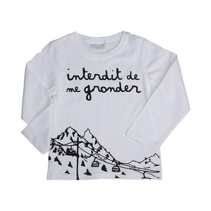 T Neige Manches Ed9h2i Blanc Noir Et Me Shirt De Interdit Longues ULGqVpzSM