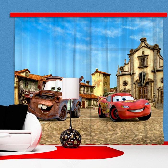 Rideaux cars flash mcqueen & martin disney - occultant : 280x245 cm ...