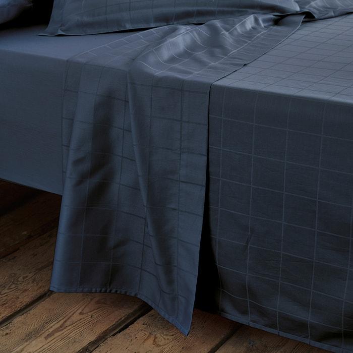 Image Drap satin de coton, tissé grands carreaux La Redoute Interieurs
