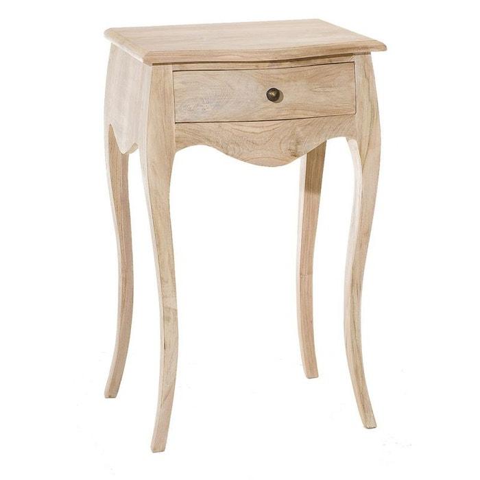 Table de chevet baroque en teck blanchi diane teck blanchi - La redoute table de chevet ...