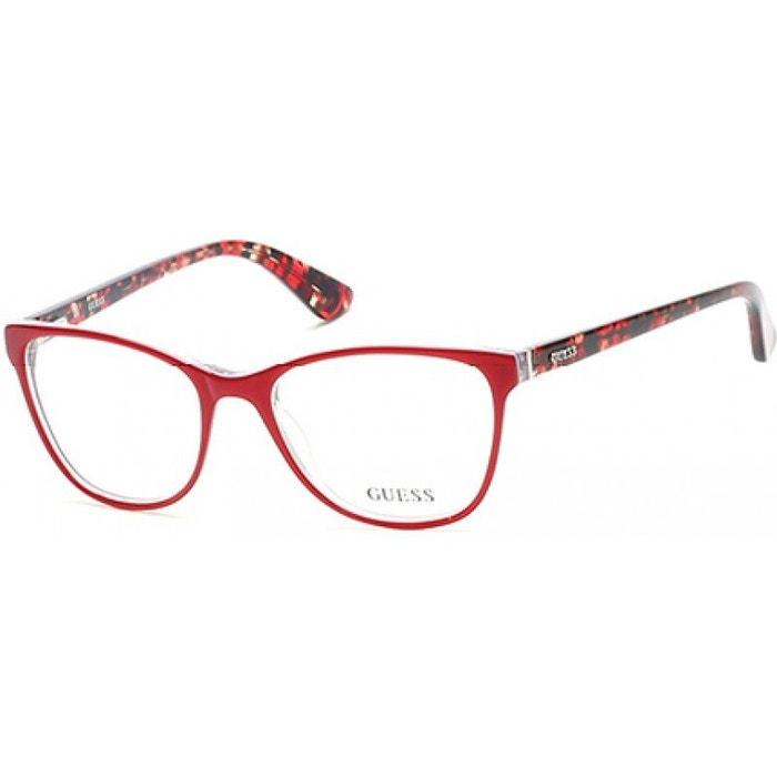 lunettes de vue pour femme guess rouge gu 2547 068 53 16 rouge guess la redoute. Black Bedroom Furniture Sets. Home Design Ideas