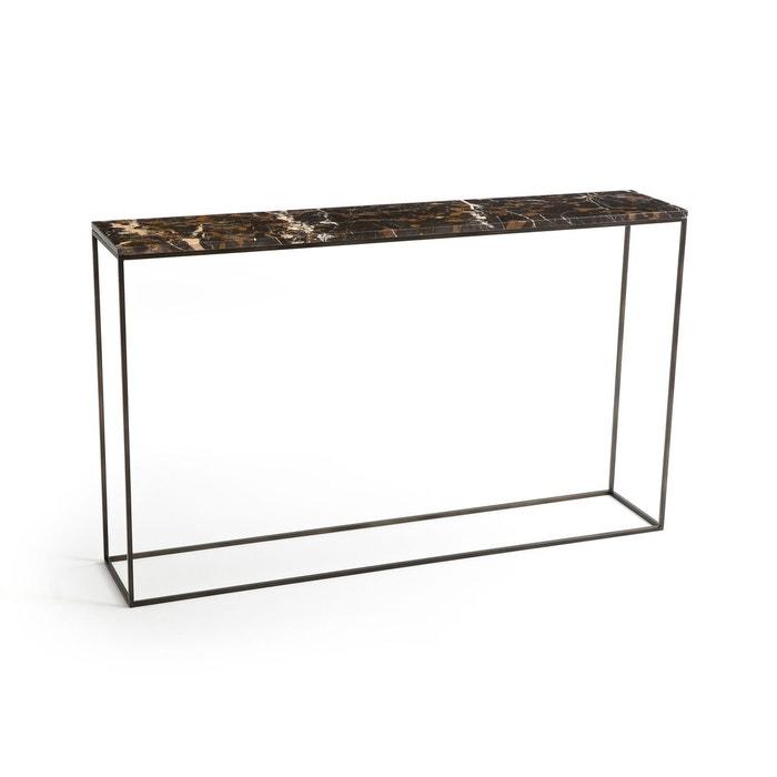 Console marbre ambré et métal L125 cm, Ambrette
