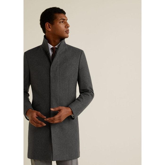 ac09cf7883210 Manteau tailored laine gris Mango Man   La Redoute
