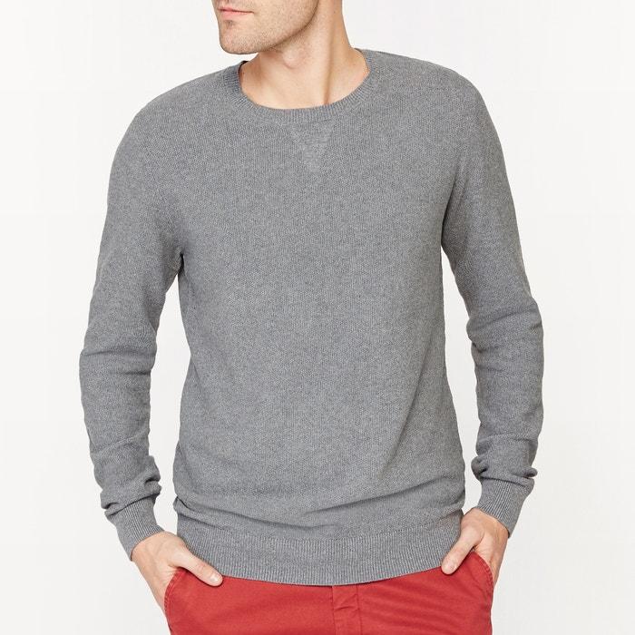 Image Sweter z okrągłym wykończeniem przy szyi, fantazyjny splot, 100% bawełna La Redoute Collections