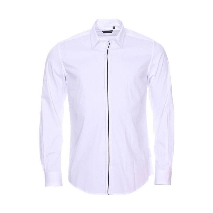Chemise cintrée en coton mélangé stretch à bande e blanc Antony Morato   La  Redoute aa70e73acf15