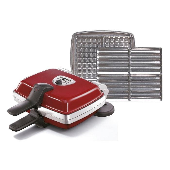 gaufrier croque monsieur super 2 gaufres 039 431 rouge lagrange la redoute. Black Bedroom Furniture Sets. Home Design Ideas