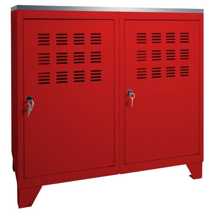 armoire de rangement m tal 2 portes pierre henry la redoute. Black Bedroom Furniture Sets. Home Design Ideas