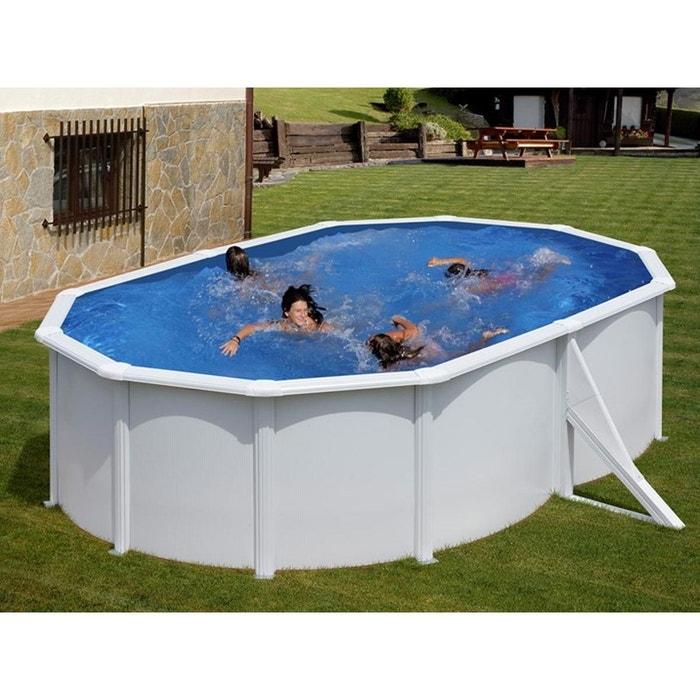 piscine acier bora bora ovale blanche 5 00 x 3 00 x 1 20 m. Black Bedroom Furniture Sets. Home Design Ideas