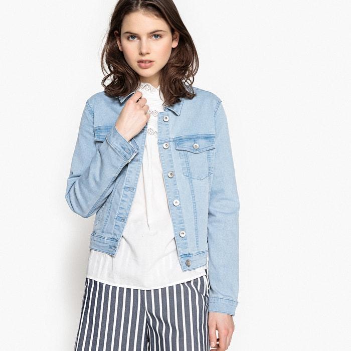 Жакет джинсовый прямого покроя