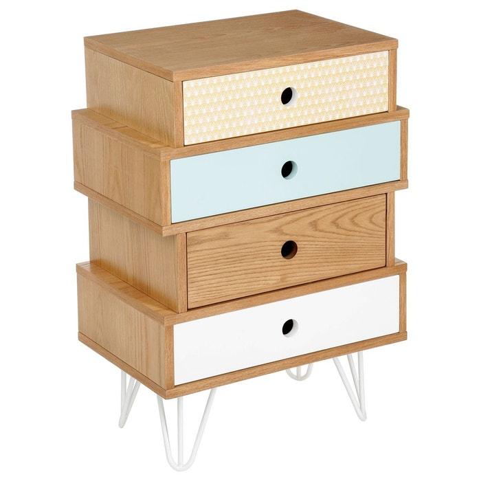 commode 4 tiroirs shulg multicolore multicolore atmosphera la redoute. Black Bedroom Furniture Sets. Home Design Ideas