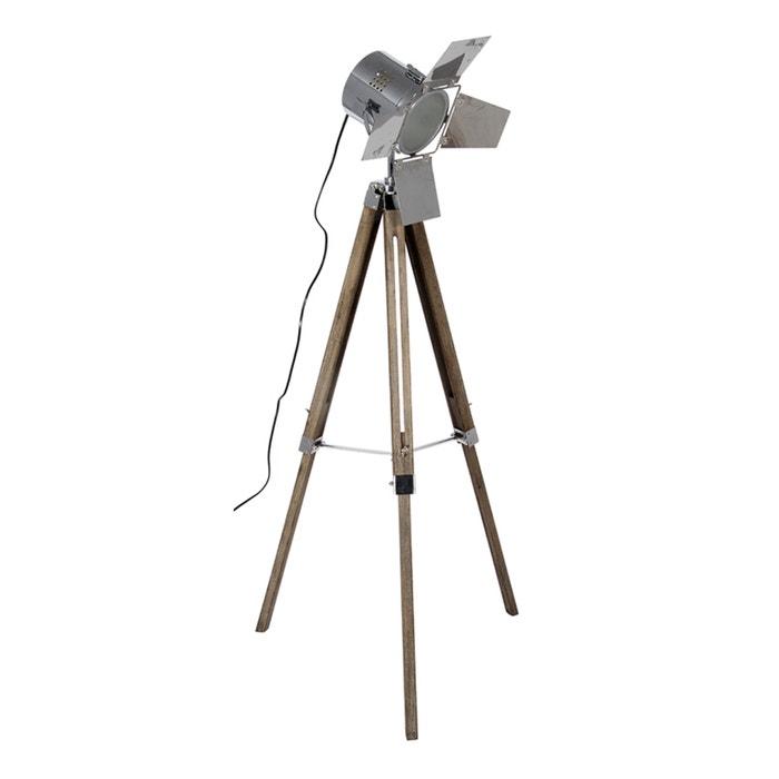 Grey Mingle Metal Tripod Floor Lamp: Grey Wash Wood And Silver Metal Film Tripod Floor Lamp