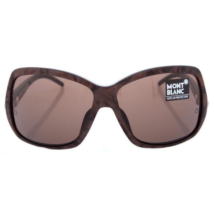 lunettes de soleil mb139s t57 marron mont blanc la redoute