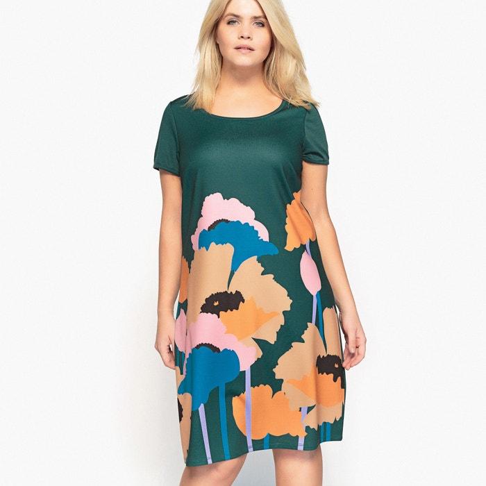 afbeelding Rechte jurk in bedrukt tricot CASTALUNA