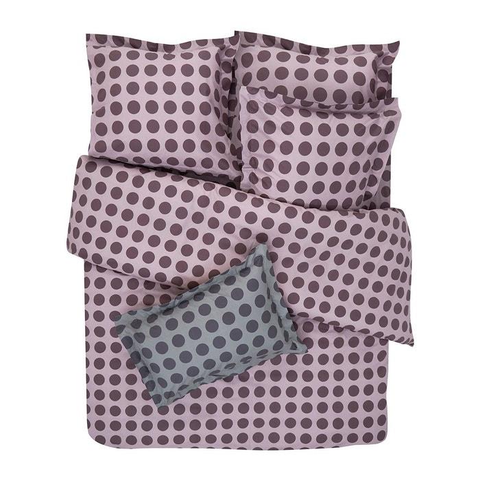 Drap housse l a coton en imprim fantaisie violet i fil for Drap housse 120x190