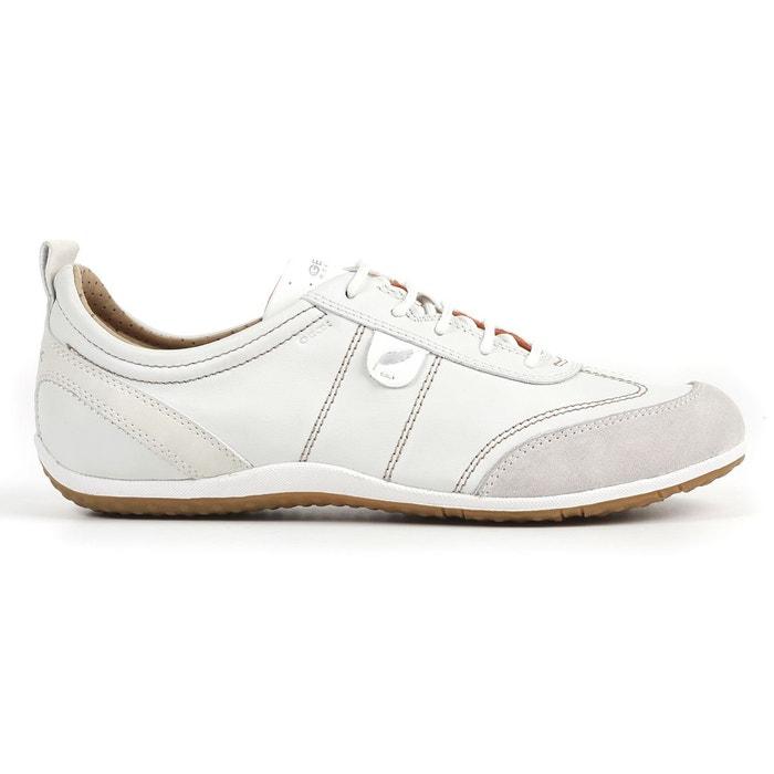9cfc222506a Baskets respirantes en cuir vega blanc Geox