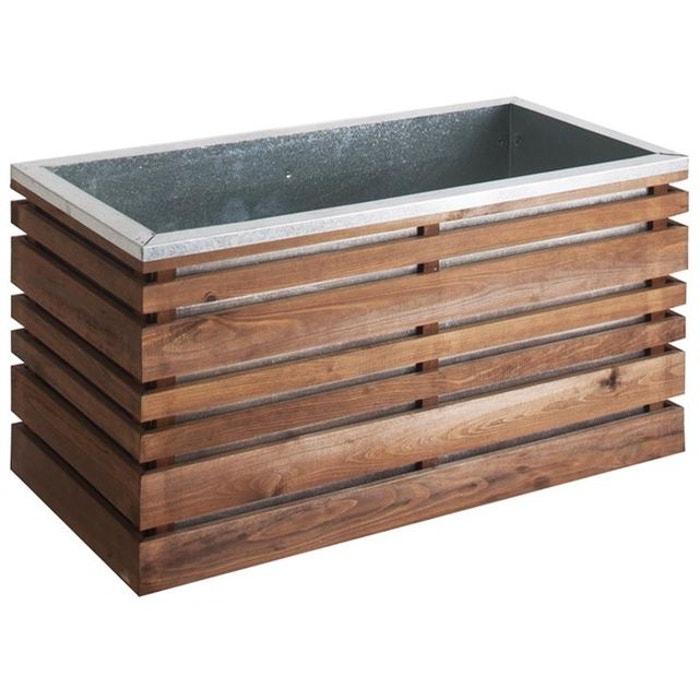 jardini re en bois rectangulaire lign z 100 naturel jardipolys la redoute. Black Bedroom Furniture Sets. Home Design Ideas