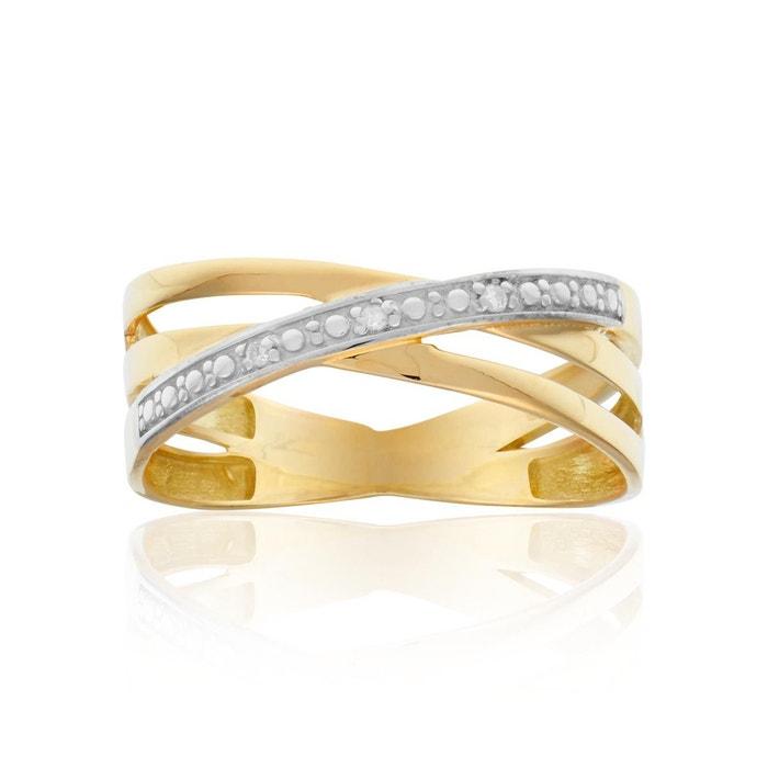 À La Recherche De Prix Pas Cher Prix Pas Cher Classique Bague en or 375/1000 jaune et diamant blanc blanc Cleor | La Redoute Ulm43Prq