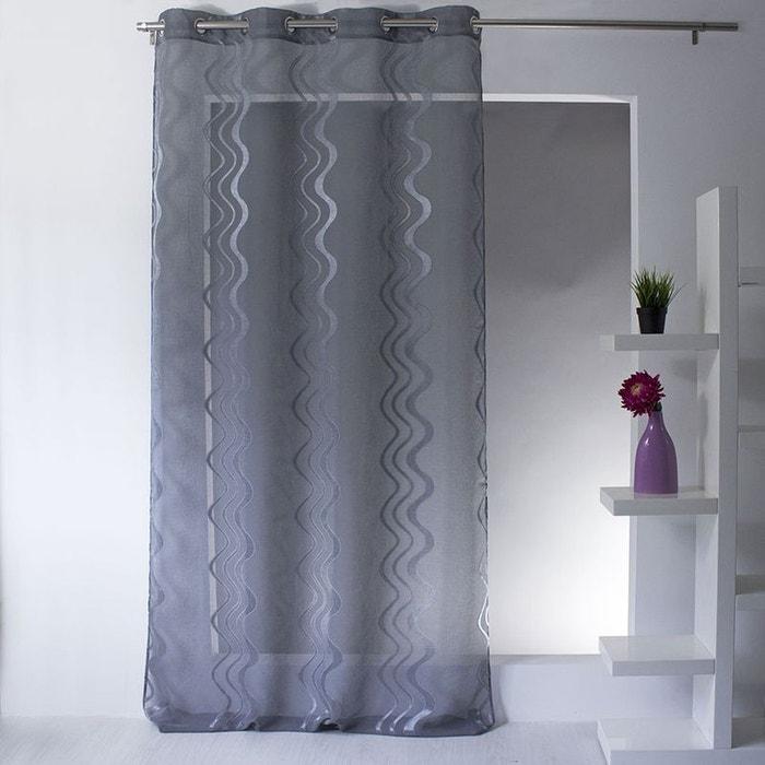voilage jacquard rayures ondul es et verticales home. Black Bedroom Furniture Sets. Home Design Ideas