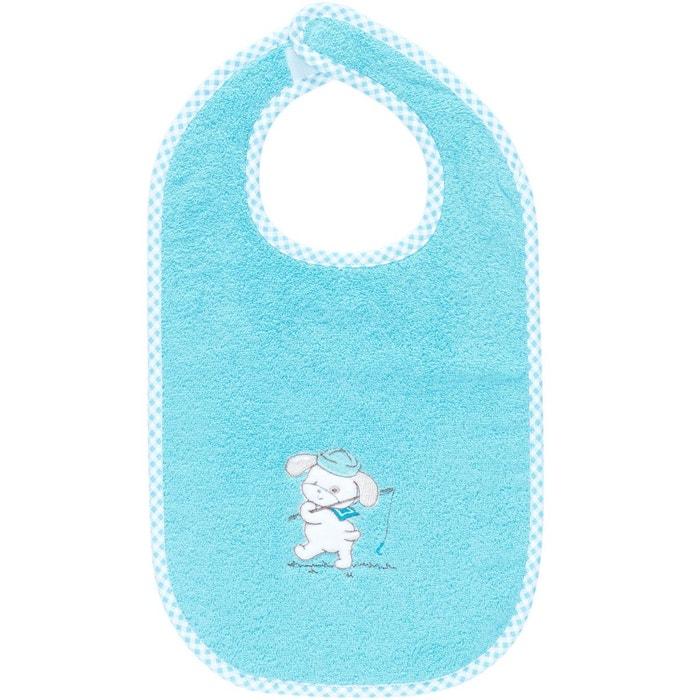 Bavoir b b scratch brod teddy fish bleu turquoise sensei for La maison du bebe