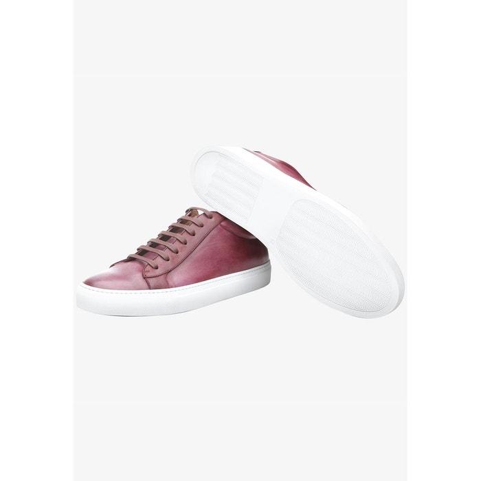 Sneaker italian calf en rouge dunkelrot Shoepassion