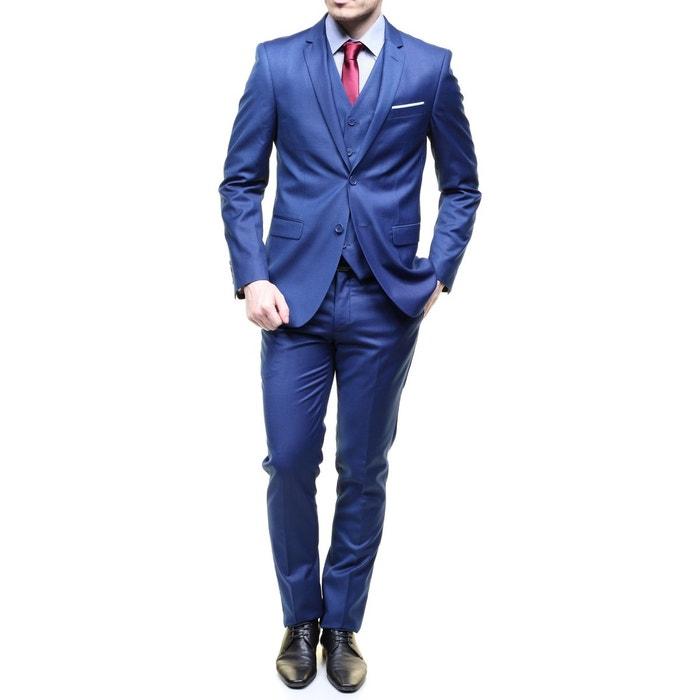 costume 3 pi ces bleu jean louis scherrer la redoute. Black Bedroom Furniture Sets. Home Design Ideas