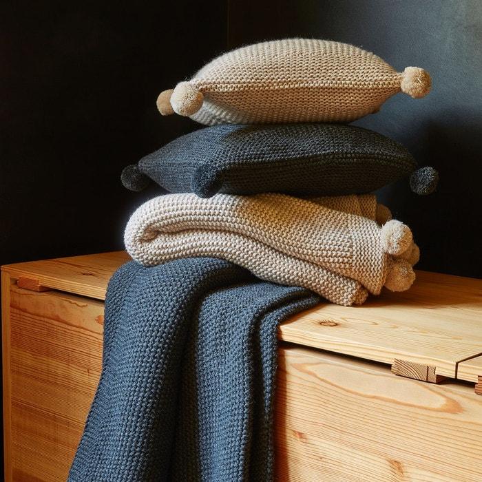 plaid tricot 130x170 marmotte couleur unique sylvie. Black Bedroom Furniture Sets. Home Design Ideas