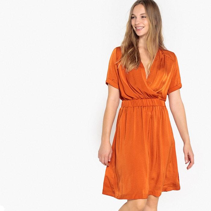 satinado La Vestido cruzado Collections con efecto cintura el 225;stica Redoute rxAqXBnwr