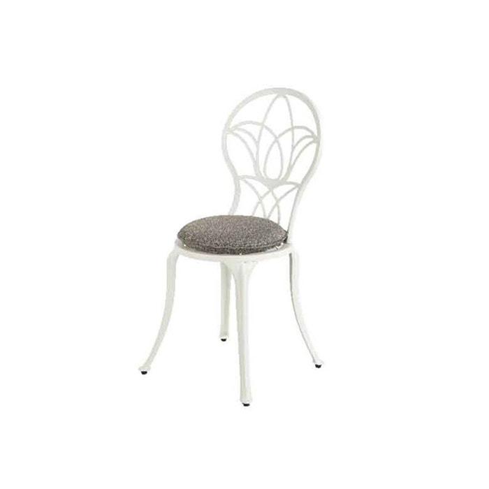 Chaise de jardin bistro saint-tropez - blanc cassé Jardideco | La ...