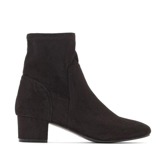 Noir Boots Chaussettes Redoute CastalunaLa Talon Moyen 3L5Rj4A