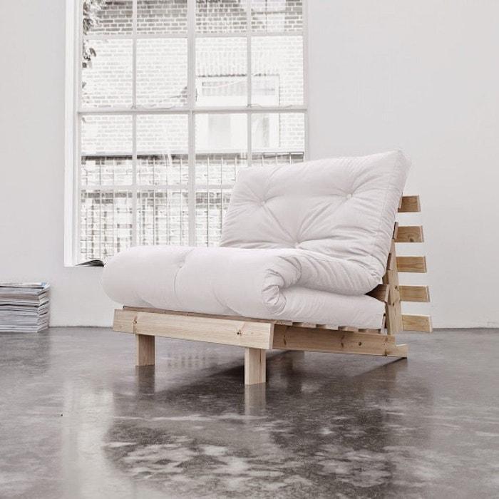 pack matelas futon ecru coton structure en bois naturel naturel terre de nuit la redoute. Black Bedroom Furniture Sets. Home Design Ideas
