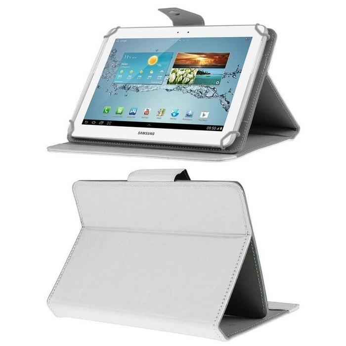 housse universelle tablette 10 pouces ajustable 10 1 39 39 support blanc blanc yonis la redoute. Black Bedroom Furniture Sets. Home Design Ideas