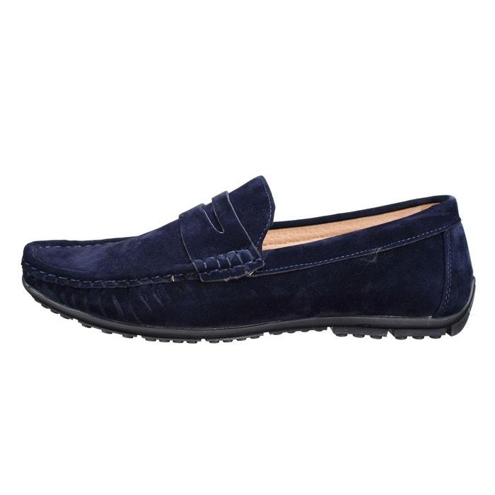 Chaussure derbie à enfiler bleu Uomo