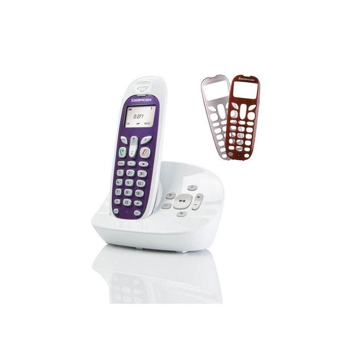 T l phone r pondeur sans fil sagemcom d271a couleur unique sagemcom la redoute - La redoute telephone gratuit ...