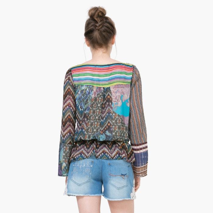 Image Long-Sleeved Shirt with Geometric Print DESIGUAL