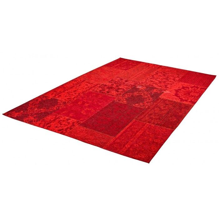 Tapis rouge plat patchwork effet vintage burmade rouge - Code promo la redoute livraison gratuite sans minimum d achat ...