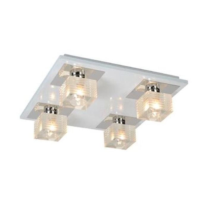 luminaire plafonnier blanc amazing 4 lampes blanc millumine la redoute. Black Bedroom Furniture Sets. Home Design Ideas