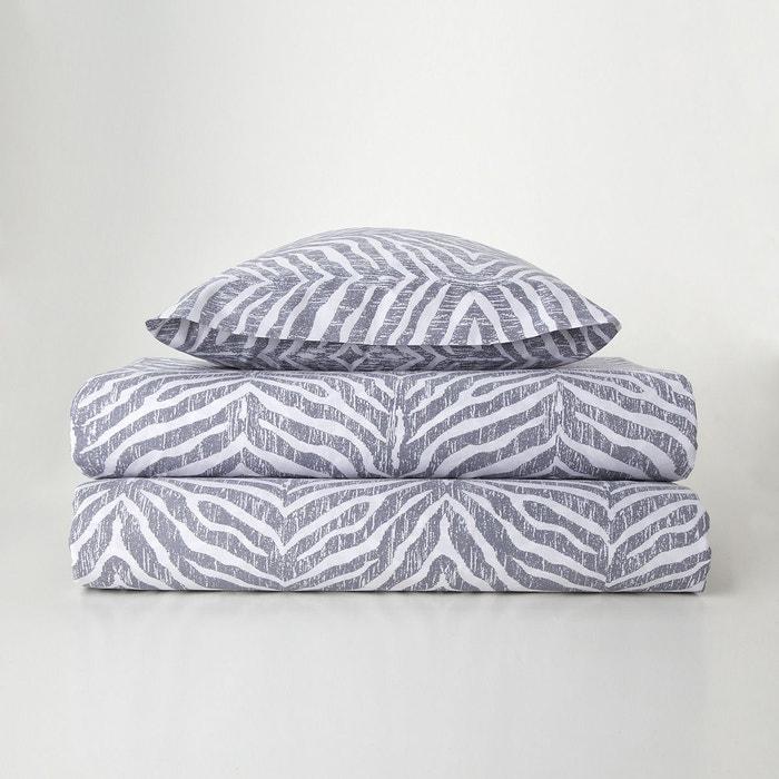 parure housse de couette z bre gris el corte ingles la redoute. Black Bedroom Furniture Sets. Home Design Ideas