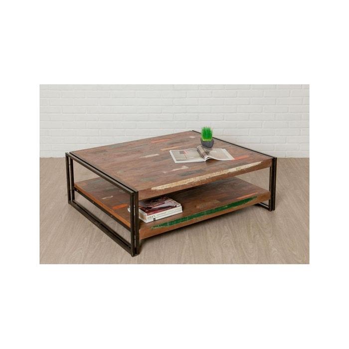 Table Basse Rectangulaire Loft Xxl Teck Recycle